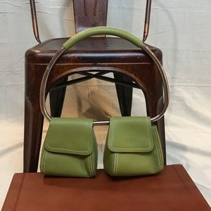 Vintage Lime Green Mod Handlebar Swing Bag